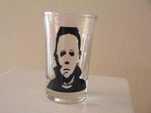Michael Myers Shot Glass Horror Halloween Drinking Bar Gift for Him Her -