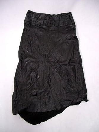 44074f0f598a Amazon   シープ レザー シワ加工 スカート レディース   スカート 通販