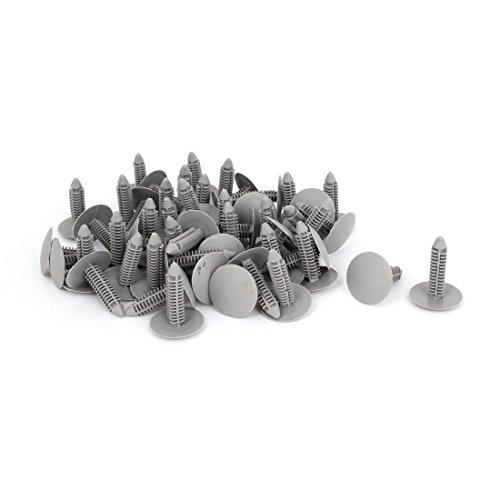 uxcell a15041700ux0521 50 Pcs Gray Plastic Rivet Clips 8mm x 25mm x 31mm, Pack (Headliner Trim Clips)