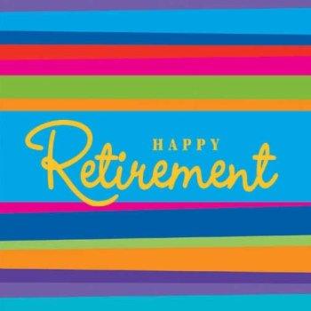 (Retirement Stripe Beverage Napkins, 16ct)