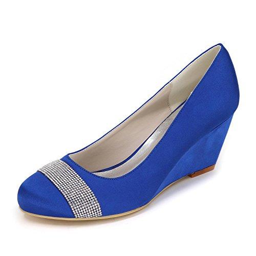 yc Mujer Blue Varios Boda De Alto 04 Colores La Cuña Jardines Tacón Grandes Cómodos L Personalización Zapatos 9140 SwqHFdS