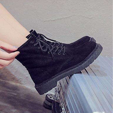 Paseo Tacón Bajo Fiesta y Mujer Zapatos Casual Otoño DESY Rosa Negro cms 2'5 black Vestido Cordón Noche 4'5 Con Botas Ante formales W6nxvxEzZ