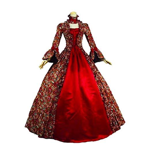 (Women's Victorian Rococo Dress Inspiration Maiden Costume (XXL:Height67-69 Chest46-48 Waist39-41,)