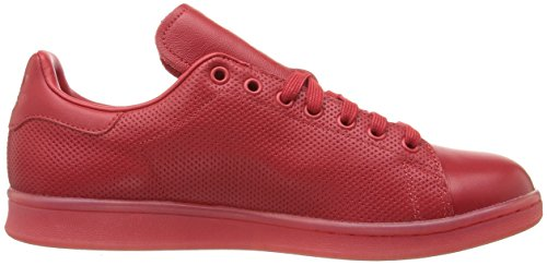 adidas Originals Men's Stan Smith Sneaker, Scarlet/Scarlet/Scarlet, 10