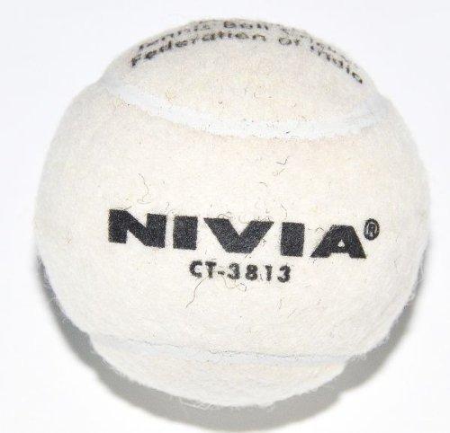 (Nivia Heavy Tennis Ball Cricket Ball, White (6-Pack))