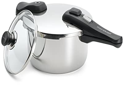 Chef's Design 6.4-Quart Stainless-Steel Pressure Cooker by Chef's Design