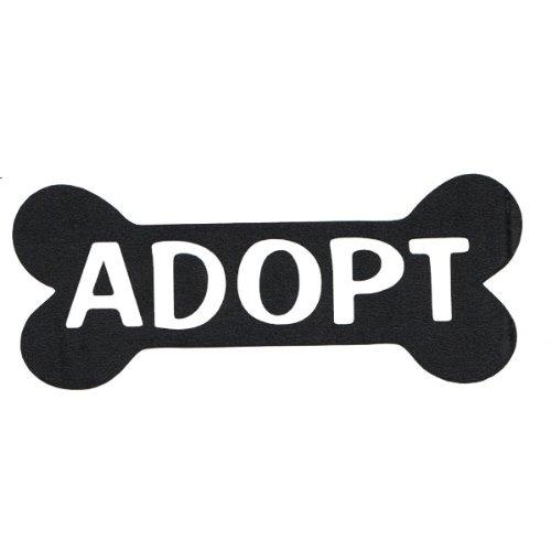 Adopt Black Sticker Animal Rescue product image
