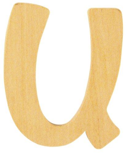 Rayher U Letter, Wood, 6 cm