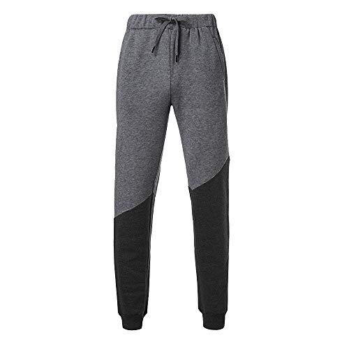 De Gris Mode Pants Automne Survêtement Jogging Foncé Sport Cordon Chic B Serrage Coton Patchwork Élastique Sweat sonnena Homme Travail Pantalons Hommes Hiver Pantalon EnwqRg0xc