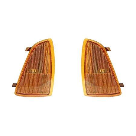 Fits Chevrolet Blazer 1995-1997/S10 Pickup 1994-1997 Side Marker Light Unit Pair Driver and Passenger Side w/Subaru -