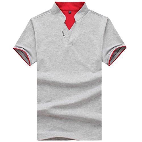 AMBLY スキッパーポロシャツ メンズ Tシャツ カットソー 半袖 無地 ゴルフウェア トップス カジュアル コーデ 黒 紺 白 春 夏 秋 メンズファッション