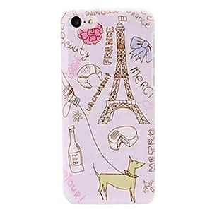comprar Caso de Francia Torre Eiffel Patrón de plástico duro para el iphone 5c