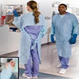 MCK85761205 - Tidi Products Impervious Procedure Gown HiRisk One Size Fits Most Blue Thumb Loop Adult Disposable