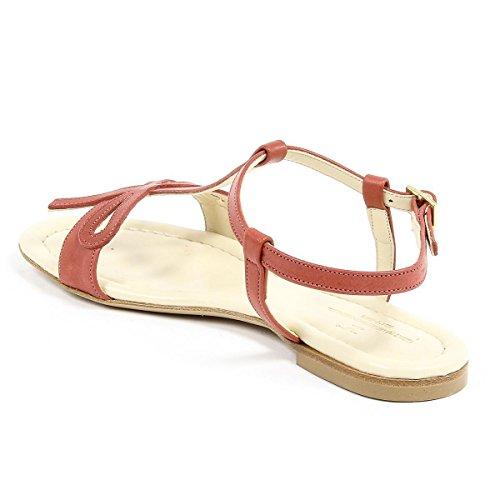 V 1969 Italia Womens Flat Sandal Red Lisa