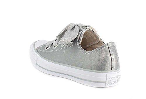 Chuck Argento Donne Ctas top Sneaker Taylor Multicolore argento Grandi Metallizzato Bue Bianco 499 Occhielli Basso Converse 1tOrw1