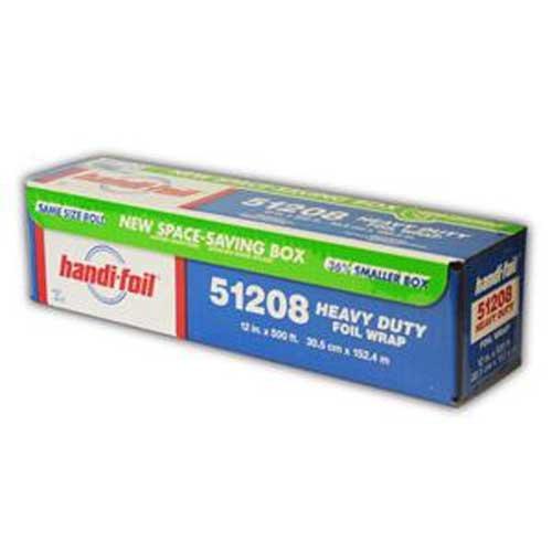 Handi Foil of America Heavy Duty Aluminum Foil Roll 500 Foot X 12 inch - 1 each.