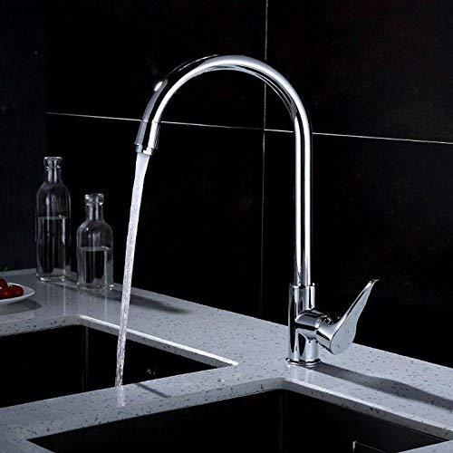 JingJingnet タップキッチンタップ洗面台の蛇口冷たいとお湯のミキサーバスルームのミキサー洗面器のミキサータップスクエアチューブ銅ホットとコールドシングルコールドメッキ線引きラウンドティーA用キッチンまたはバスルームタップ (Color : Universal a) B07SWTJ9V5 Universal a