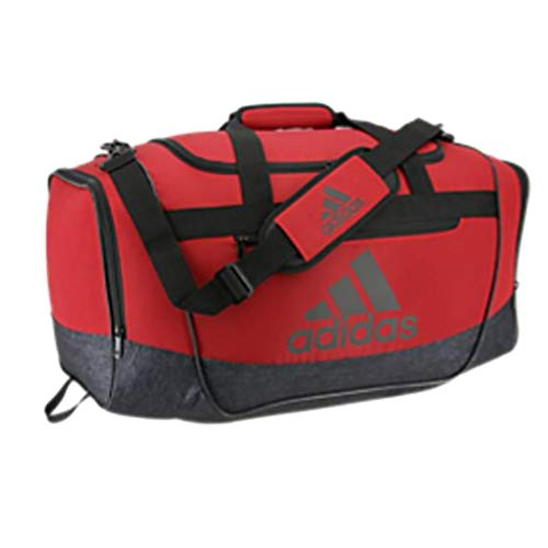 adidas Defender Iii Medium Duffel, Active Maroon/Black Jersey/Black, One Size