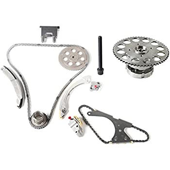 MOCA Timing Chain Kit with Variable Valve Timing Sprocket for 2002-2004 Chevrolet Trailblazer & GMC Envoy & Isuzu Ascender L6 4.2L