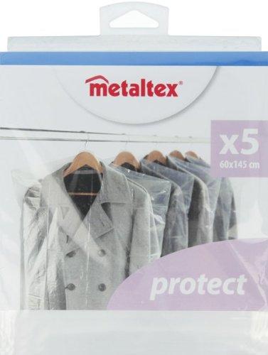 Metaltex 755408/Set 5/Klarsichth/üllen f/ür Kleidung