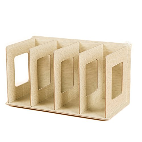 CD Racks, Hmane Simple Wooden DIY Desktop Book CD Storage Sorting Bookends Office Carrying Shelves - (Desktop Sorting Racks)
