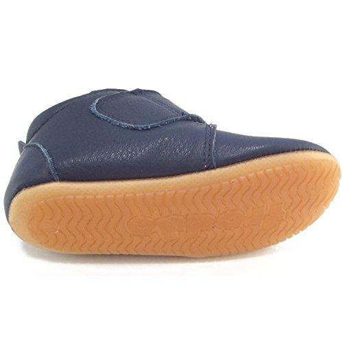 Froddo - Patucos de Piel para niña Azul azul Azul - dunkelblau (dark blue)
