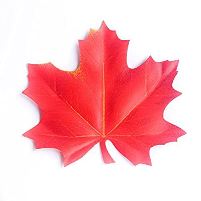 Maple Leaf Shape Red Drink Coasters Leaves 1pcs