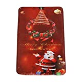 Fedi Apparel Bath Rugs,Christmas Tree Santa Claus Print Floor Runner Area Rugs Flannel Fabric Non-Slip Floor Mat Durable Doormat Carpet