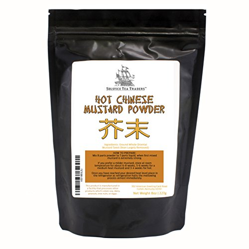 Hot Chinese Mustard Powder, Easily Mixes with Water to Make Chinese Mustard, 8oz - Hot Mustard Powder