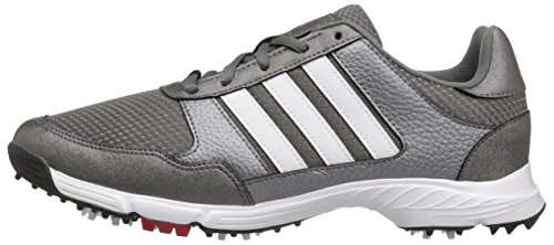 adidas Men's Tech Response Golf Shoe, Iron Metallic/White, 8.5 W US by adidas (Image #5)
