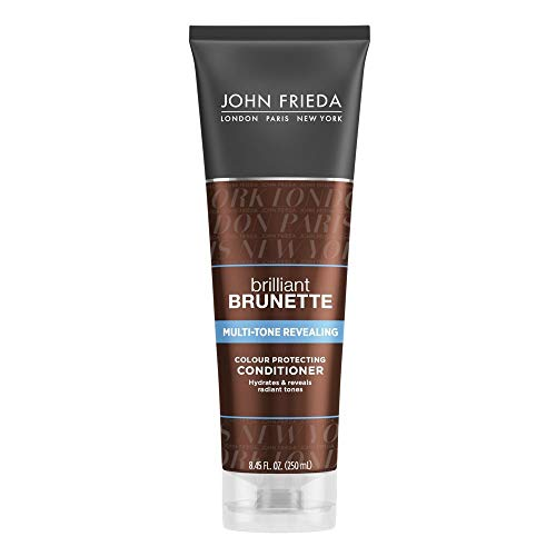 John Frieda Brilliant Brunette Multi-Tone Revealing Colour Protecting Conditioner, 8.45 Ounces (Best Drugstore Shampoo For Shiny Hair)