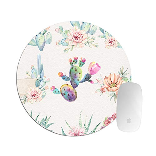 Hand Drawn Watercolor - Hand Drawn Watercolor Saguaro Cactus Round mosue pad Gaming Mouse pad Non-Slip Mouse pad