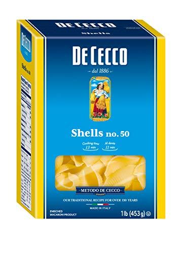 - De Cecco Semolina Pasta, Shells No.50, 1 Pound (Pack of 5)