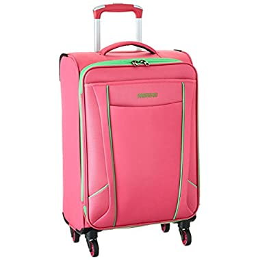American Tourister Skylite Spinner 20, Raspberry/Lime, One Size
