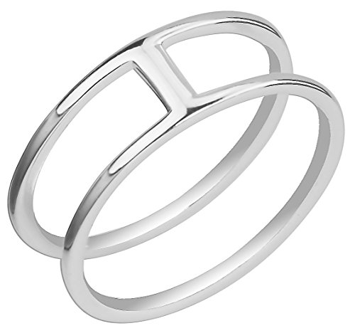 Silver Double Lines - Kinzie Fashion .925 Sterling Silver Double Lines Knuckle Ring