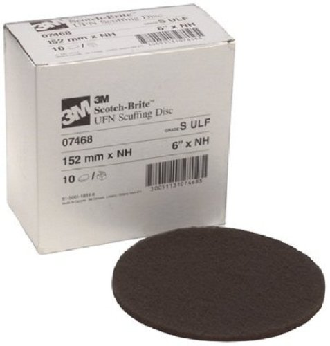 Scotch-Brite(TM) Scuffing Disc 07468, Silicon Carbide, 6'' Diameter, Ultra Fine Grit, Gray  (Pack of 40) by Cubitron