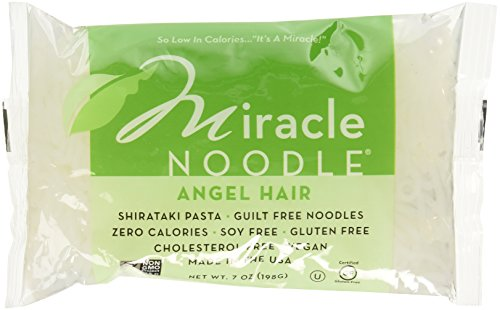 Miracle Noodle Shirataki Angel Hair Pasta, 7 Ounce (Pack of 6)