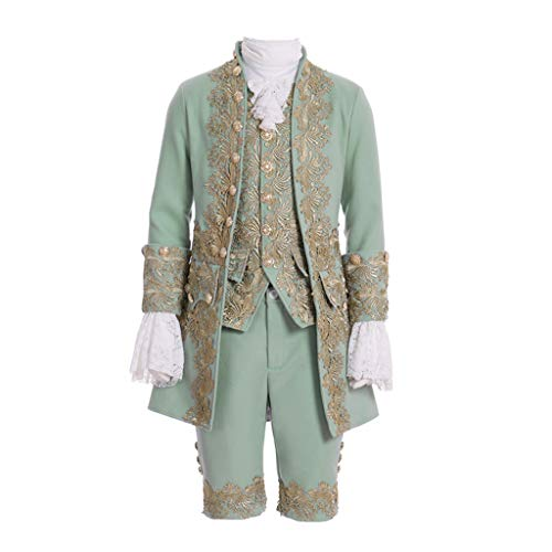 Men's Victorian Fancy Outfit 18th Century Regency Tailcoat Vest Halloween Costume (L-H:(69-71