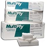 Richmond Dental 300639 Multiply Poly/Rayon Non-Woven Sponge, 8-Ply, Non-Sterile, 4'' Width, 4'' Length (Pack of 2000)