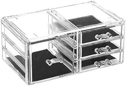 Organizador de cosméticos de acrílico transparente con 4 cajas de ...