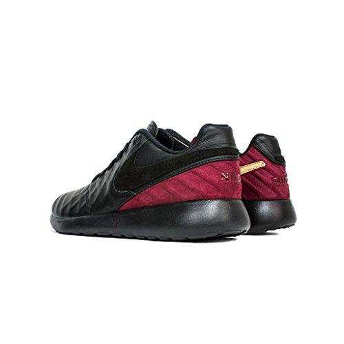 Nike Mens Roshe Tiempo Vi Fc Scarpa Casual Nero / Nero-squadra Rossa