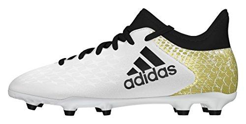 adidas X 16.3 Fg J, Botas de Fútbol para Niños Blanco (Ftwbla / Negbas / Dormet)