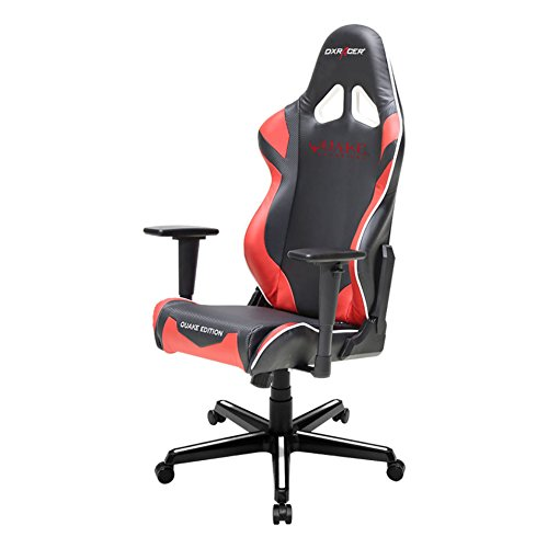 41Jv8r xYhL - DX-Racer-DOHRZ205NR-Quake-Champion-Racing-Bucket-Seat-Office-Chair-Gaming-Chair-Ergonomic-Computer-Chair-eSports-Desk-Chair-Executive-Chair-Furniture-with-Free-CushionsBlackRed