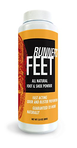 Runner's feet All-Natural Foot and Shoe Powder. 2.8 Ounces. Natural Odor Eliminator Outperforms and Outlasts Sprays Inserts and Insoles. Eliminates and Prevents Bacteria in Running Shoes. Made in USA (2.8 Ounce Spray)