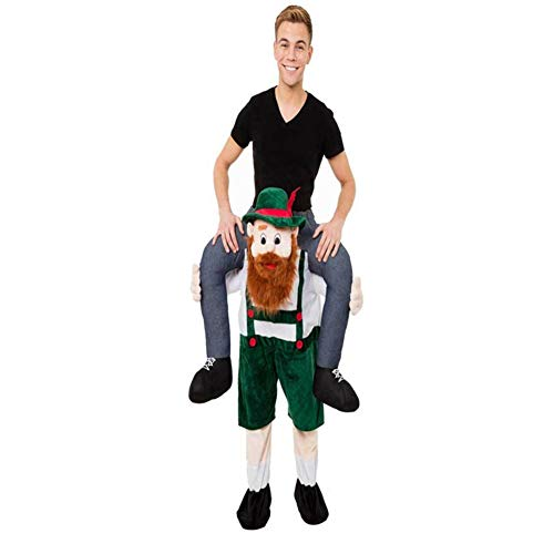 Halloween Costume Carrying Box (Halloween Carry Ride On Green Beer Guy Oktoberfest Mascot)