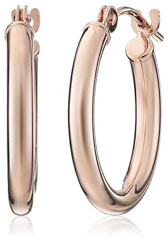 14k Rose Gold Round Hoop Earrings (0.6'' Diameter) ()