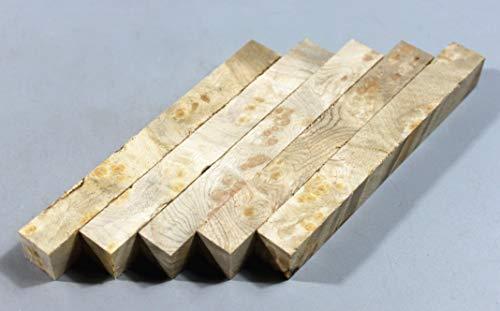 (X.MU.JU Wood Shop:Craftwood Pen Turning Blanks Wooden Pens Block Small Project Turning Blank (Golden Camphor Burl))