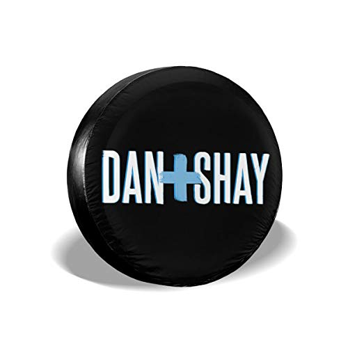 SimonaDnch Dan + Shay 2 Waterproof/Windproof Spare Tire Cover Wheel Covers for All Cars
