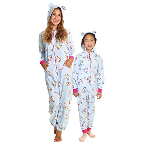 (Angelina Kid's Fleece Novelty One-Piece Hooded Pajamas,)