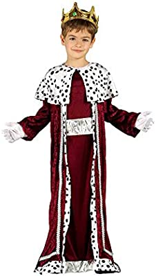 GUIRMA 42426 - Disfraz Infantil de Rey Magio, Color Rojo y Blanco ...